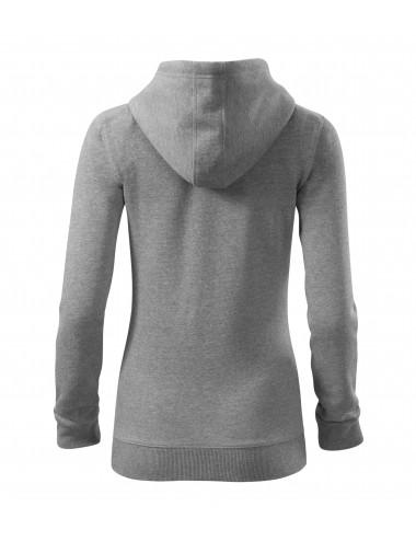 2Adler MALFINI Bluza damska Trendy Zipper 411 ciemnoszary melanż