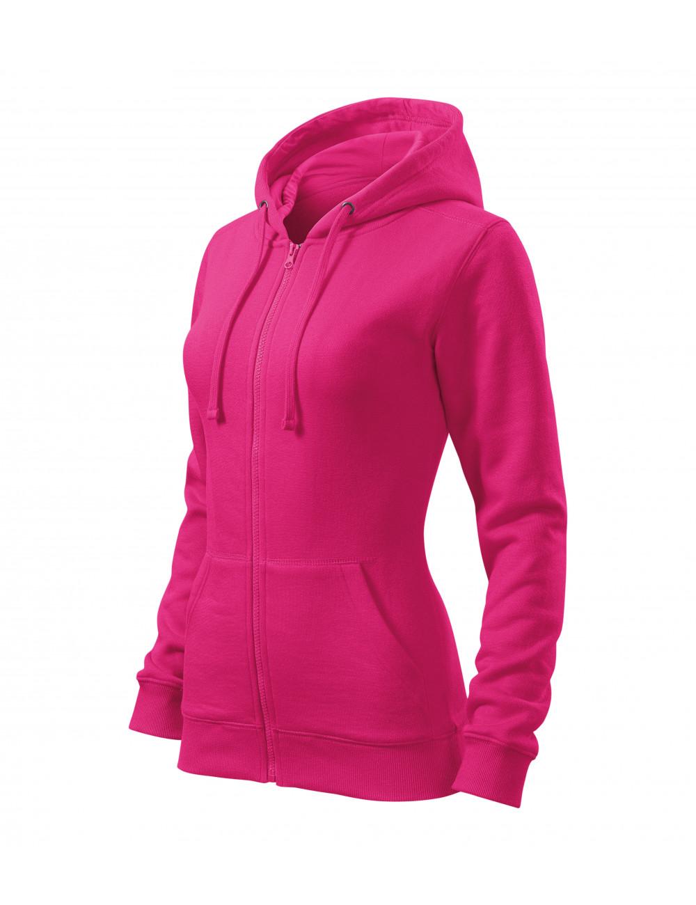 Adler MALFINI Bluza damska Trendy Zipper 411 czerwień purpurowa