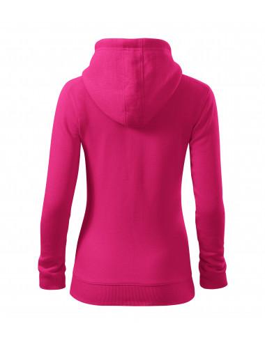 2Adler MALFINI Bluza damska Trendy Zipper 411 czerwień purpurowa