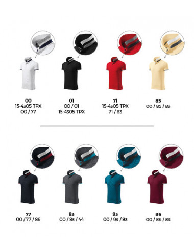 2Adler MALFINIPREMIUM Koszulka polo męska Collar Up 256 garnet