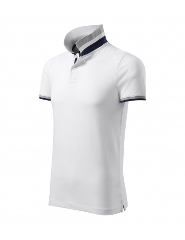 2Adler MALFINIPREMIUM Koszulka polo męska Collar Up 256 biały