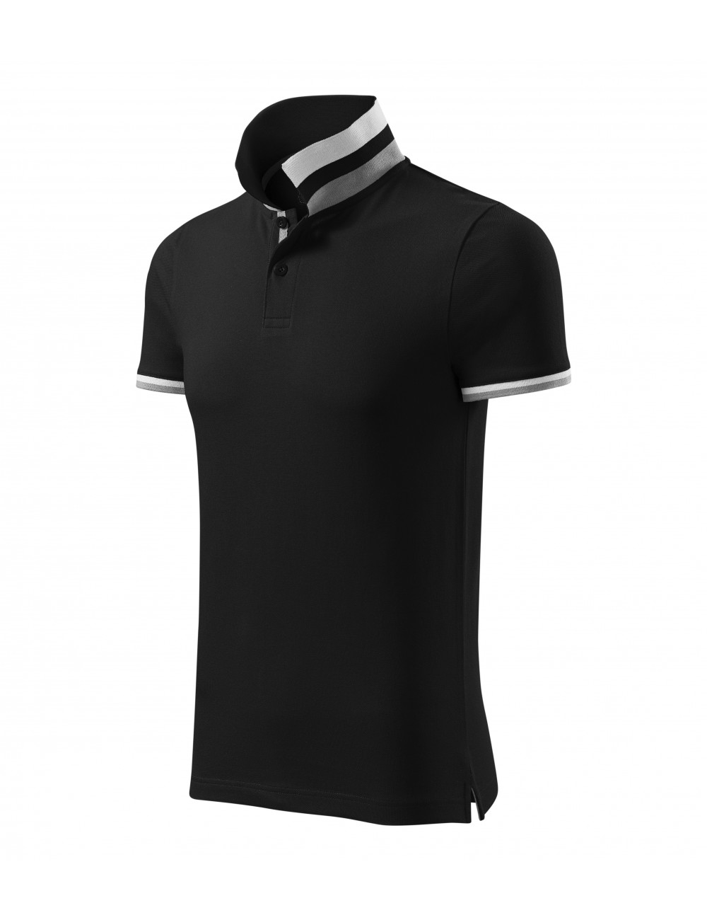 Adler MALFINIPREMIUM Koszulka polo męska Collar Up 256 czarny