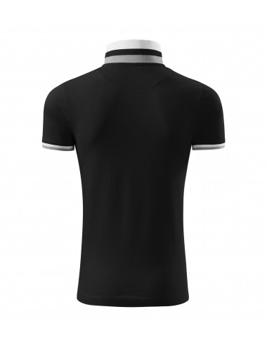 2Adler MALFINIPREMIUM Koszulka polo męska Collar Up 256 czarny