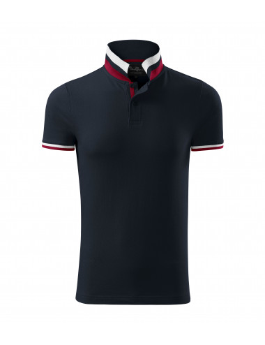 2Adler MALFINIPREMIUM Koszulka polo męska Collar Up 256 dark navy