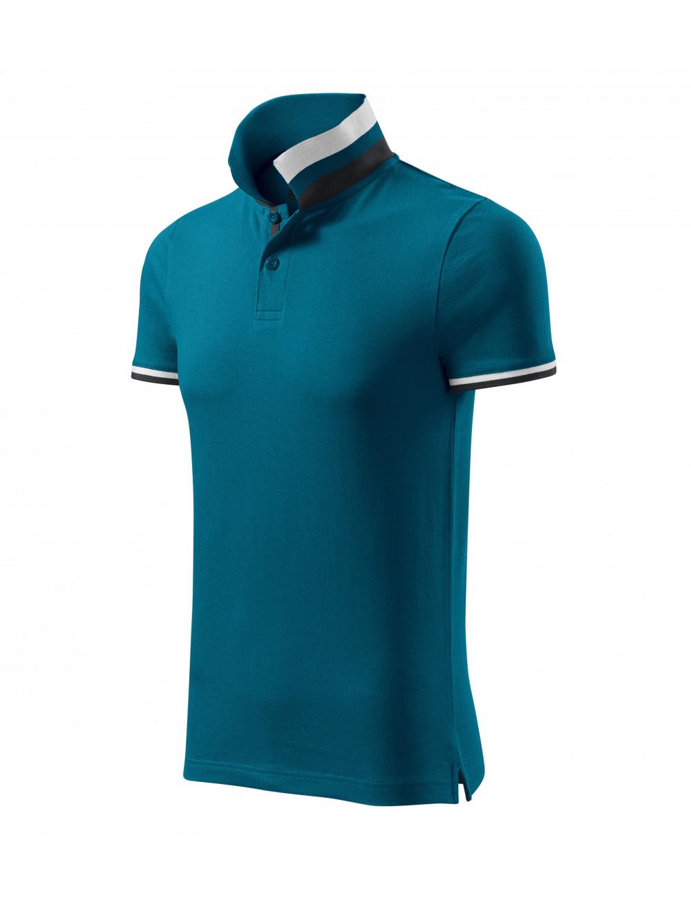 Adler MALFINIPREMIUM Koszulka polo męska Collar Up 256 petrol blue