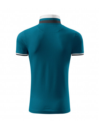 2Adler MALFINIPREMIUM Koszulka polo męska Collar Up 256 petrol blue