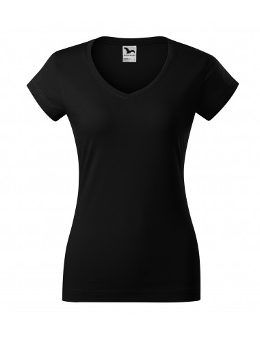 2Adler MALFINI Koszulka damska Fit V-neck 162 czarny