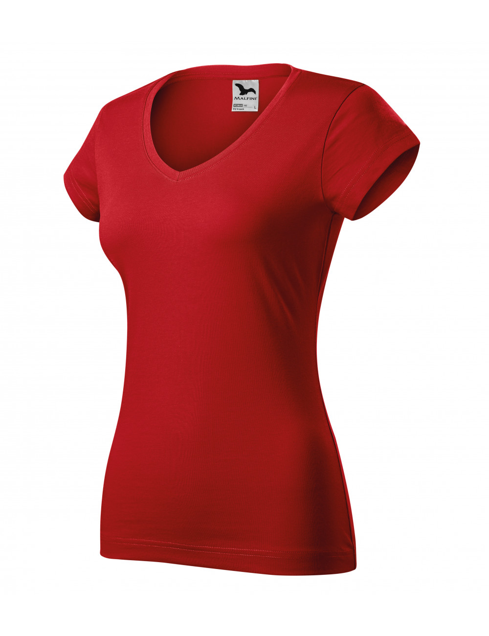 Adler MALFINI Koszulka damska Fit V-neck 162 czerwony