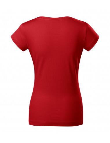 2Adler MALFINI Koszulka damska Fit V-neck 162 czerwony