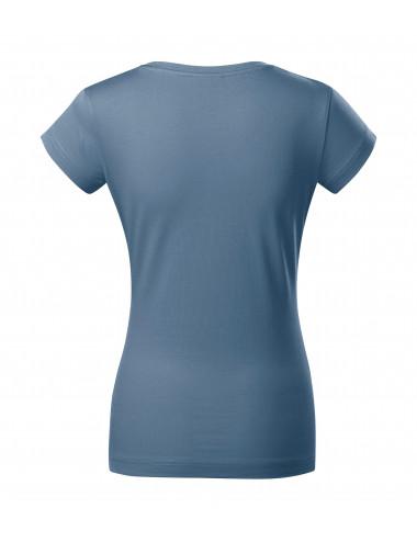2Adler MALFINI Koszulka damska Fit V-neck 162 denim