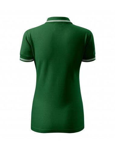 2Adler MALFINI Koszulka polo damska Urban 220 zieleń butelkowa