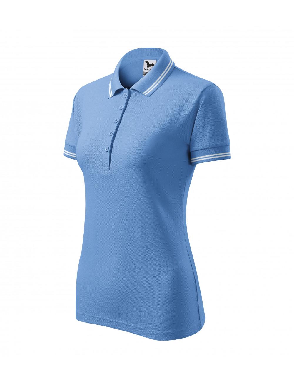 Adler MALFINI Koszulka polo damska Urban 220 błękitny