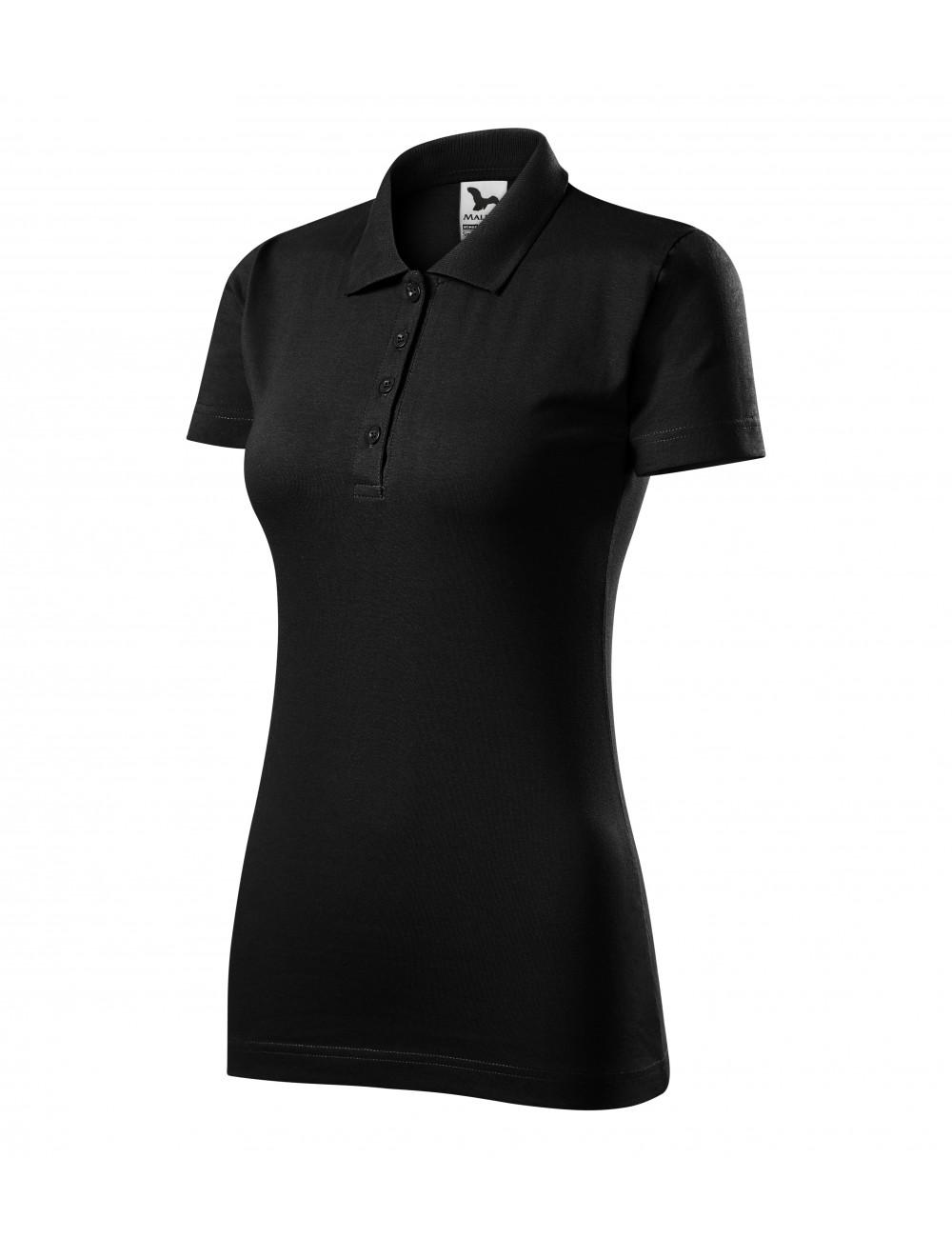 Adler MALFINI Koszulka polo damska Single J. 223 czarny