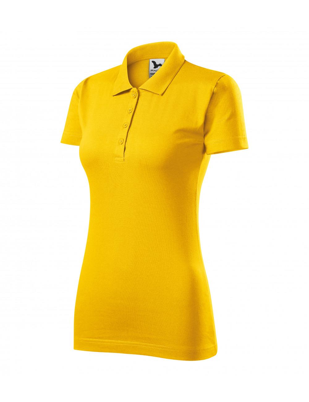Adler MALFINI Koszulka polo damska Single J. 223 żółty