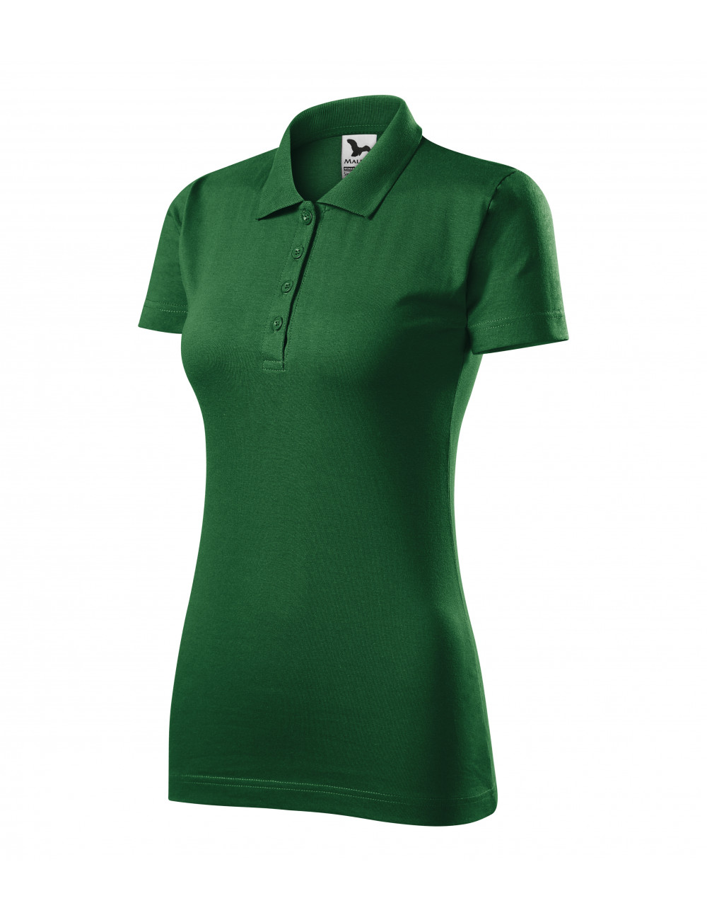 Adler MALFINI Koszulka polo damska Single J. 223 zieleń butelkowa