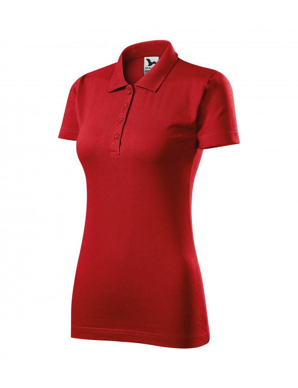 Adler MALFINI Koszulka polo damska Single J. 223 czerwony