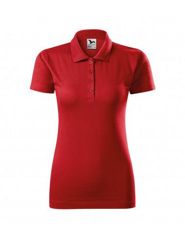 2Adler MALFINI Koszulka polo damska Single J. 223 czerwony