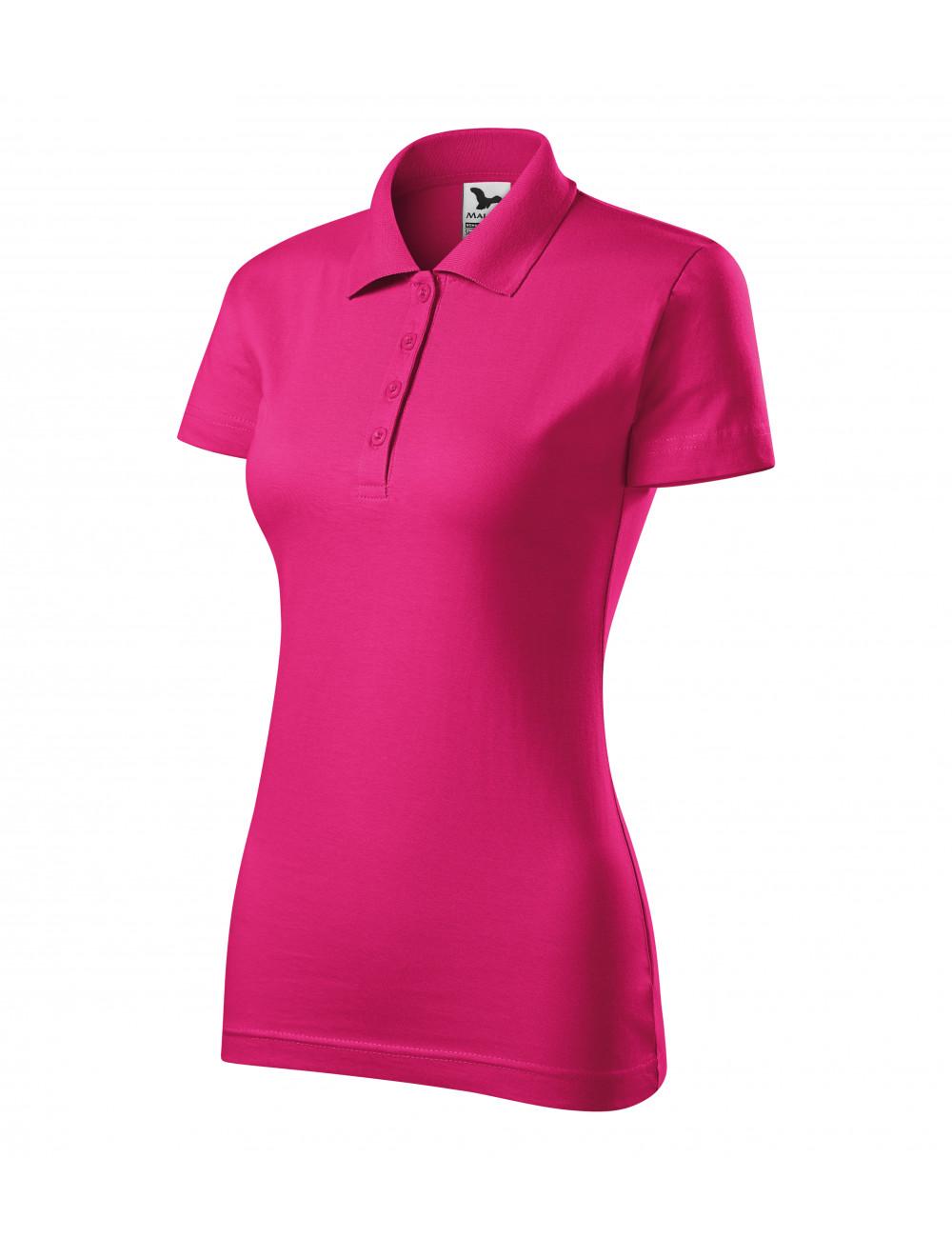 Adler MALFINI Koszulka polo damska Single J. 223 czerwień purpurowa
