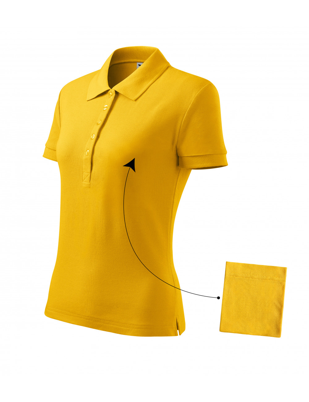 Adler MALFINI Koszulka polo damska Cotton 213 żółty