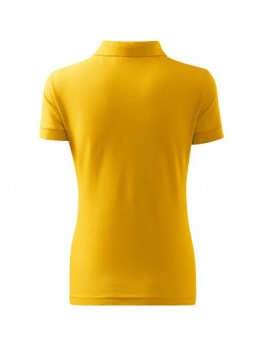 2Adler MALFINI Koszulka polo damska Cotton 213 żółty