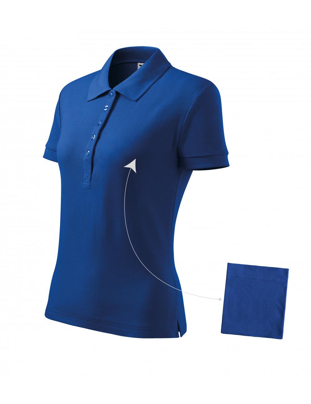 Adler MALFINI Koszulka polo damska Cotton 213 chabrowy