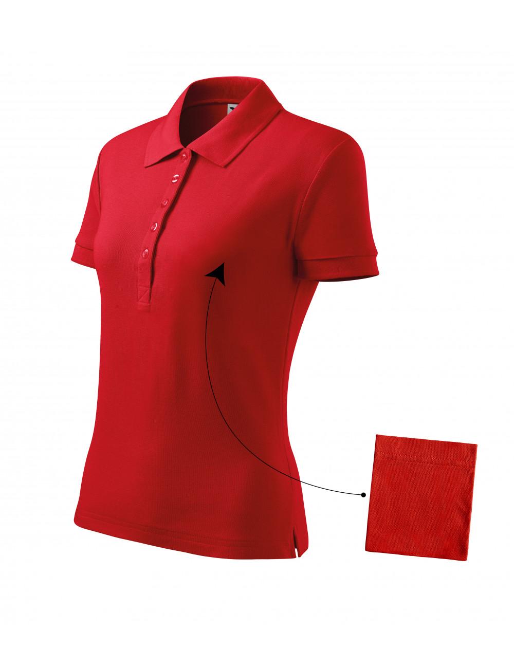 Adler MALFINI Koszulka polo damska Cotton 213 czerwony