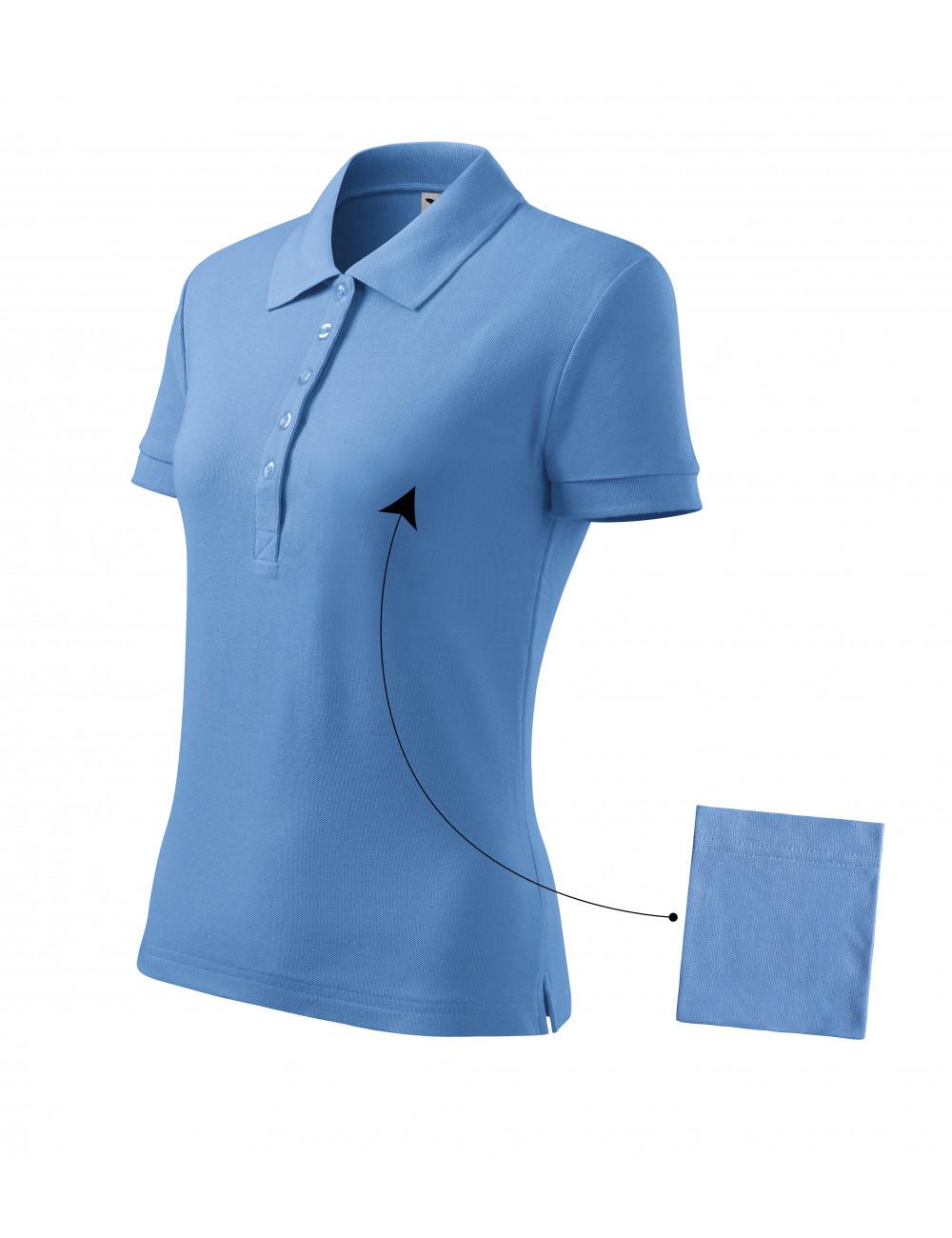 Adler MALFINI Koszulka polo damska Cotton 213 błękitny