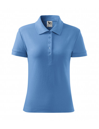 2Adler MALFINI Koszulka polo damska Cotton 213 błękitny