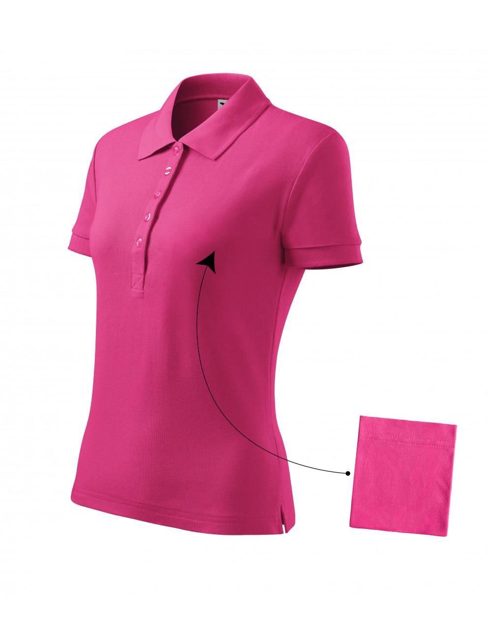 Adler MALFINI Koszulka polo damska Cotton 213 czerwień purpurowa