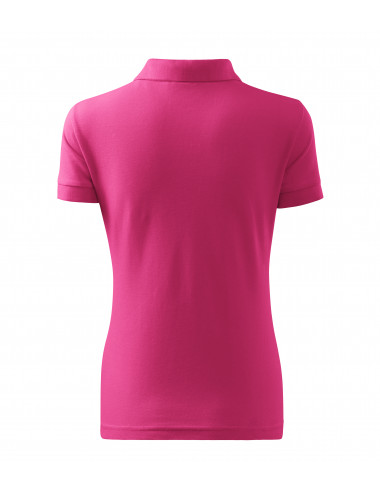 2Adler MALFINI Koszulka polo damska Cotton 213 czerwień purpurowa