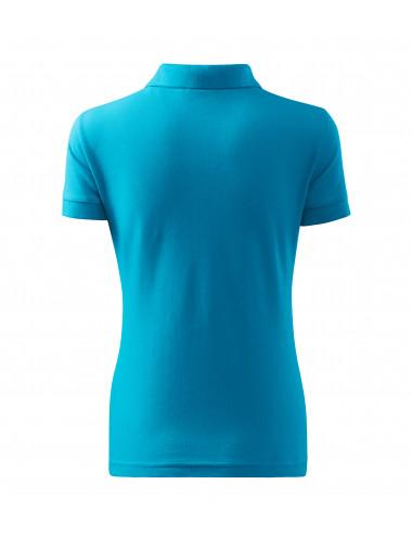 2Adler MALFINI Koszulka polo damska Cotton 213 turkus