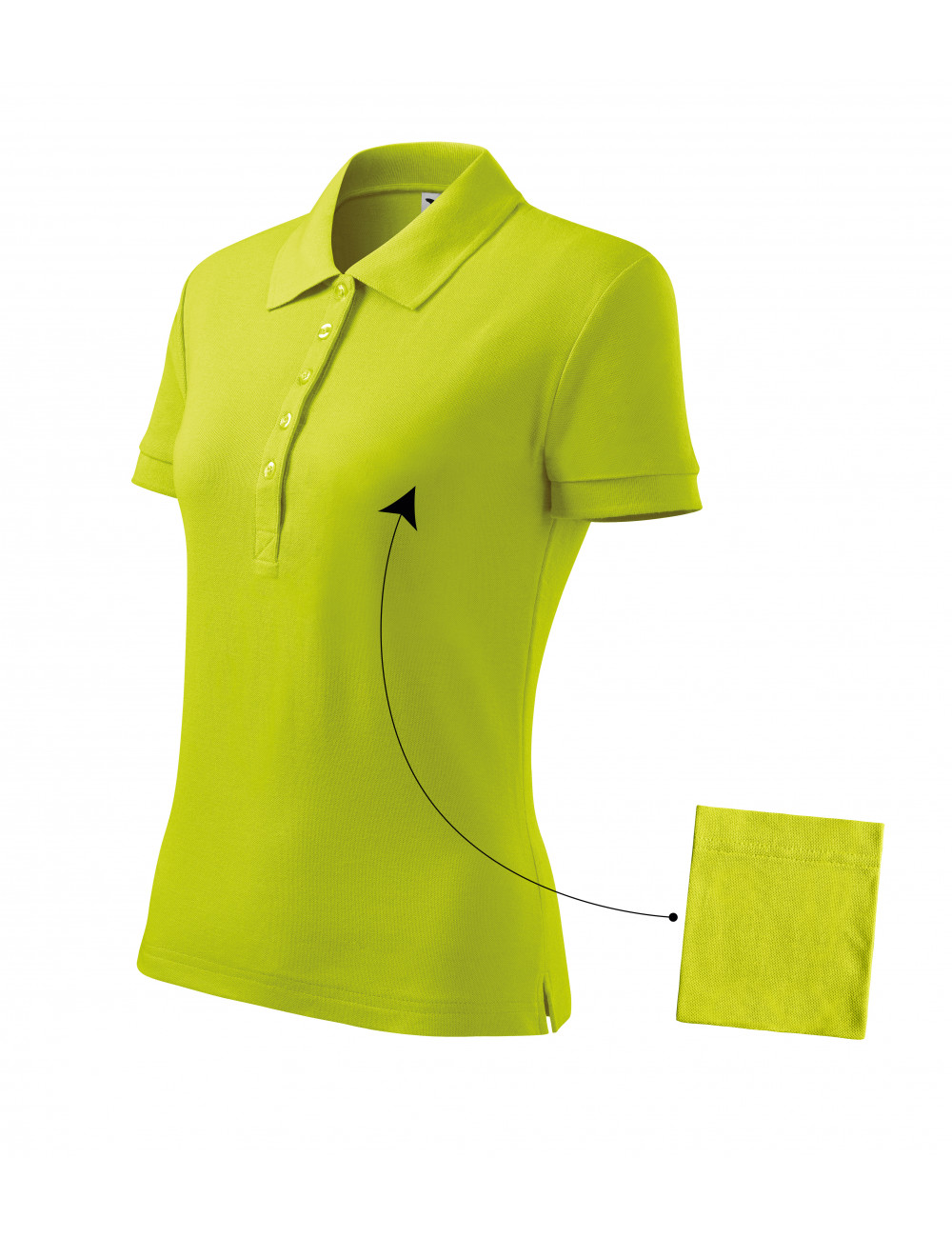 Adler MALFINI Koszulka polo damska Cotton 213 limetka