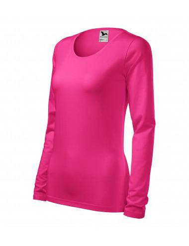 Adler MALFINI Koszulka damska Slim 139 czerwień purpurowa