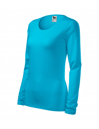 2Adler MALFINI Koszulka damska Slim 139 turkus