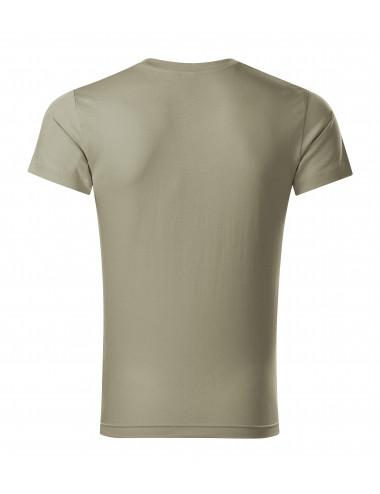 2Adler MALFINI Koszulka męska Slim Fit V-neck 146 jasny khaki