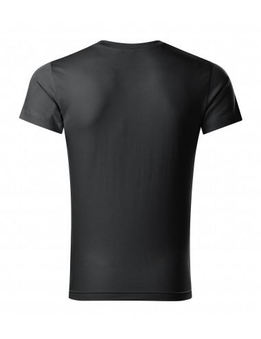 2Adler MALFINI Koszulka męska Slim Fit V-neck 146 ebony gray