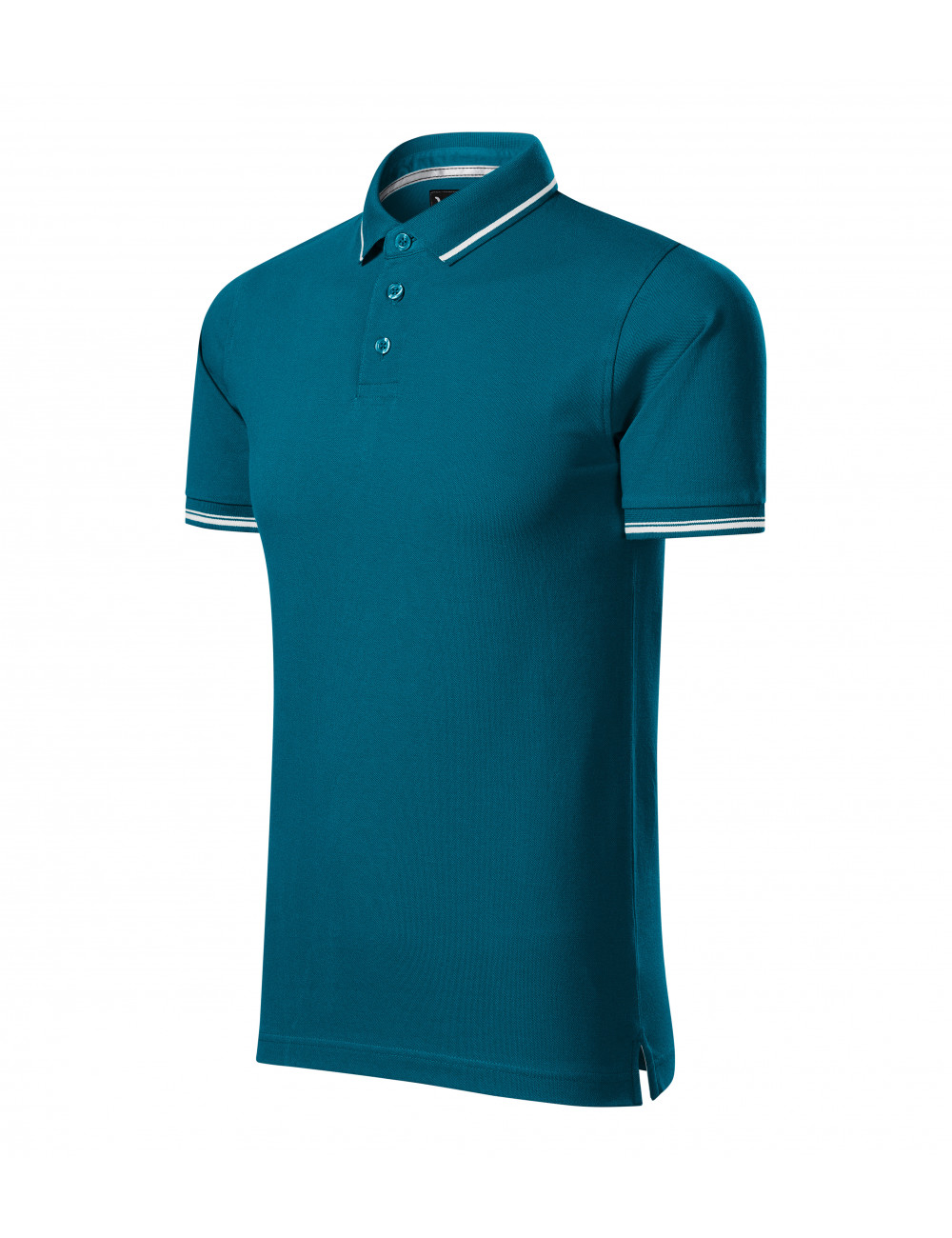 Adler MALFINIPREMIUM Koszulka polo męska Perfection plain 251 petrol blue