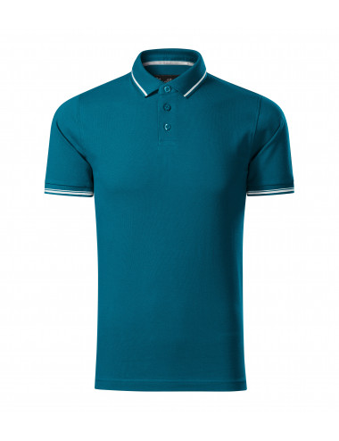 2Adler MALFINIPREMIUM Koszulka polo męska Perfection plain 251 petrol blue