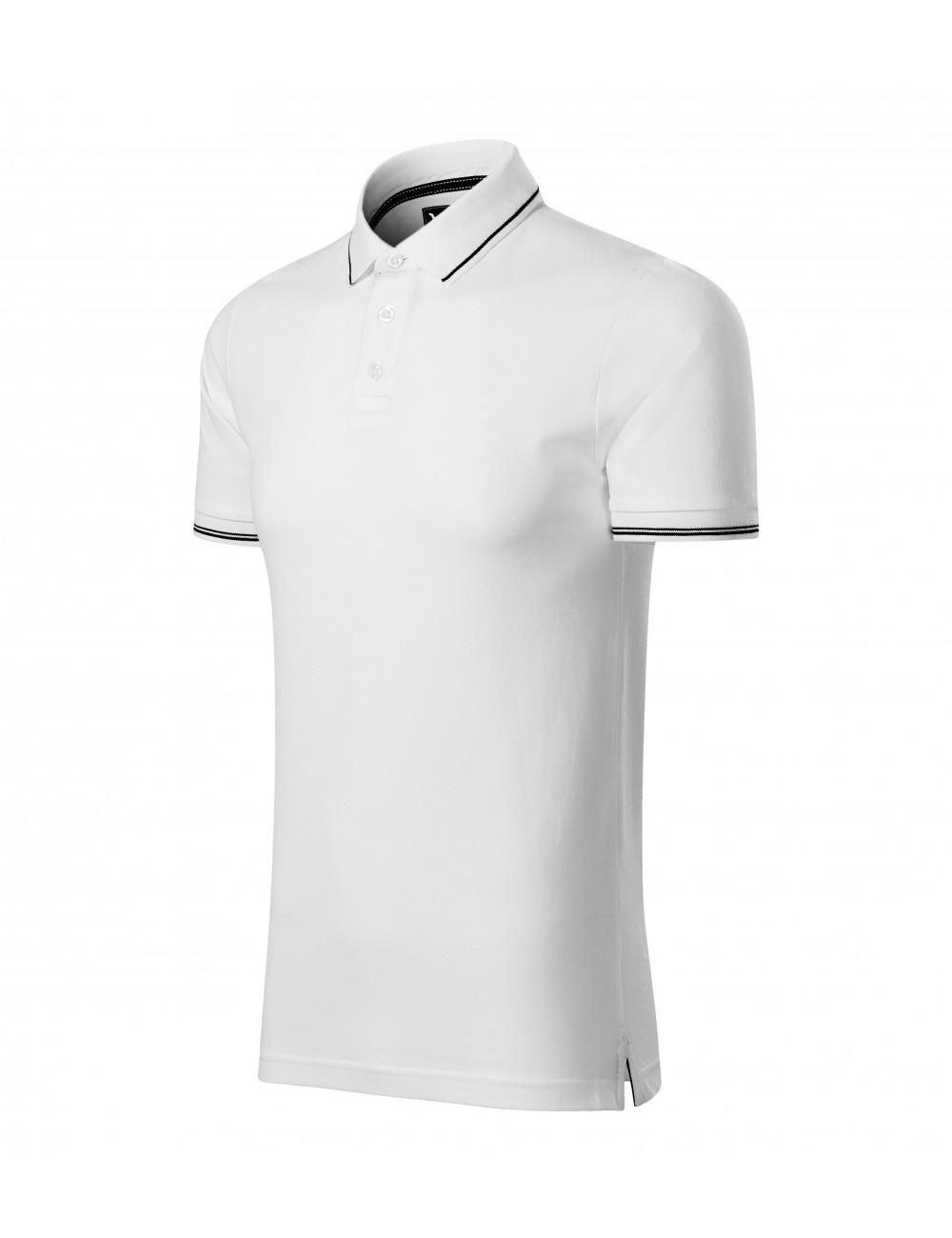 Adler MALFINIPREMIUM Koszulka polo męska Perfection plain 251 biały