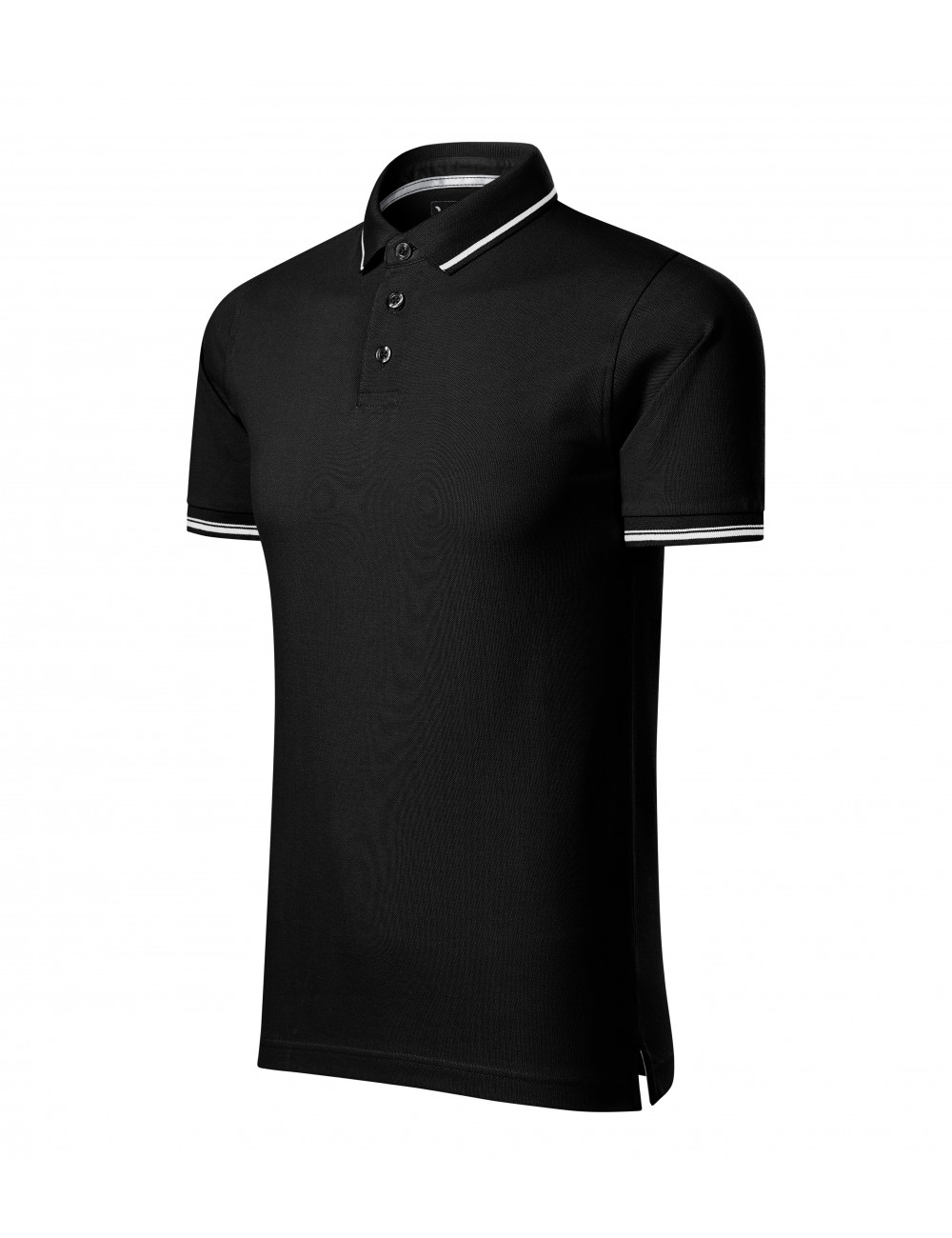 Adler MALFINIPREMIUM Koszulka polo męska Perfection plain 251 czarny