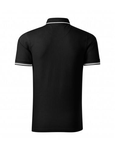 2Adler MALFINIPREMIUM Koszulka polo męska Perfection plain 251 czarny