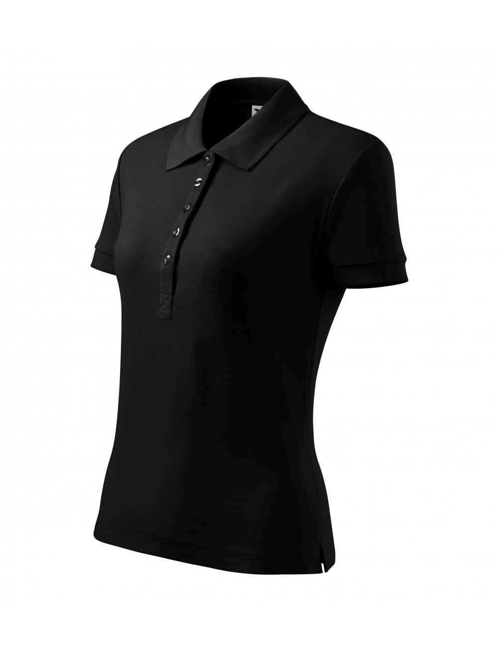 Adler MALFINI Koszulka polo damska Cotton Heavy 216 czarny