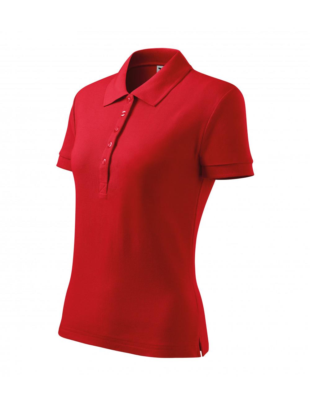 Adler MALFINI Koszulka polo damska Cotton Heavy 216 czerwony