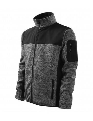 Adler MALFINIPREMIUM Softshell kurtka męska Casual 550 knit gray