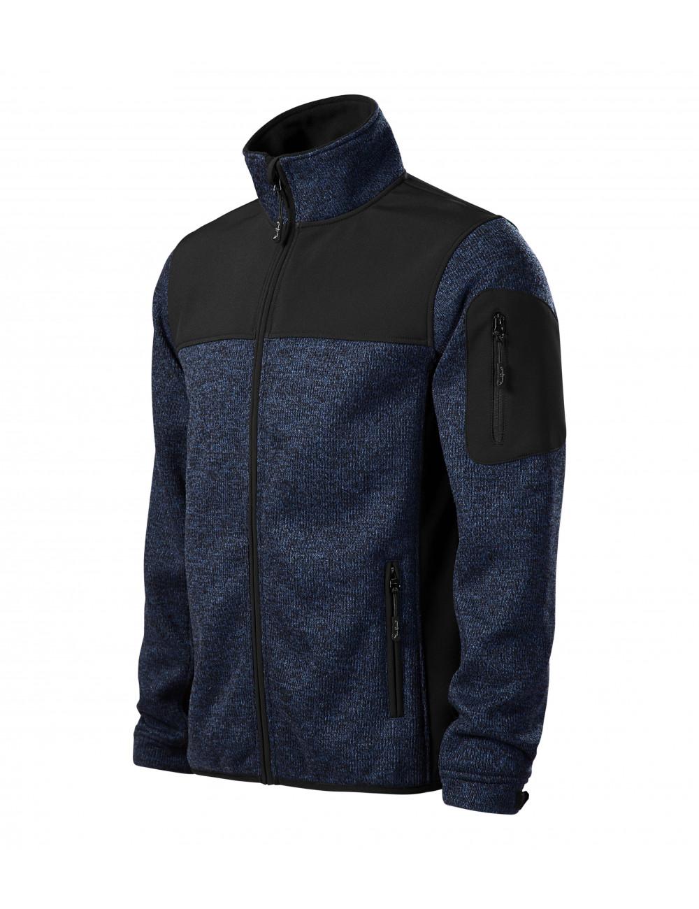 Adler MALFINIPREMIUM Softshell kurtka męska Casual 550 knit blue