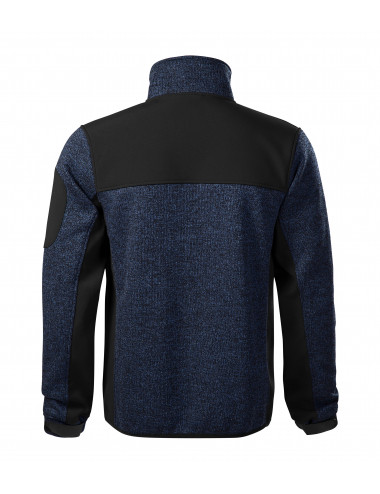 2Adler MALFINIPREMIUM Softshell kurtka męska Casual 550 knit blue