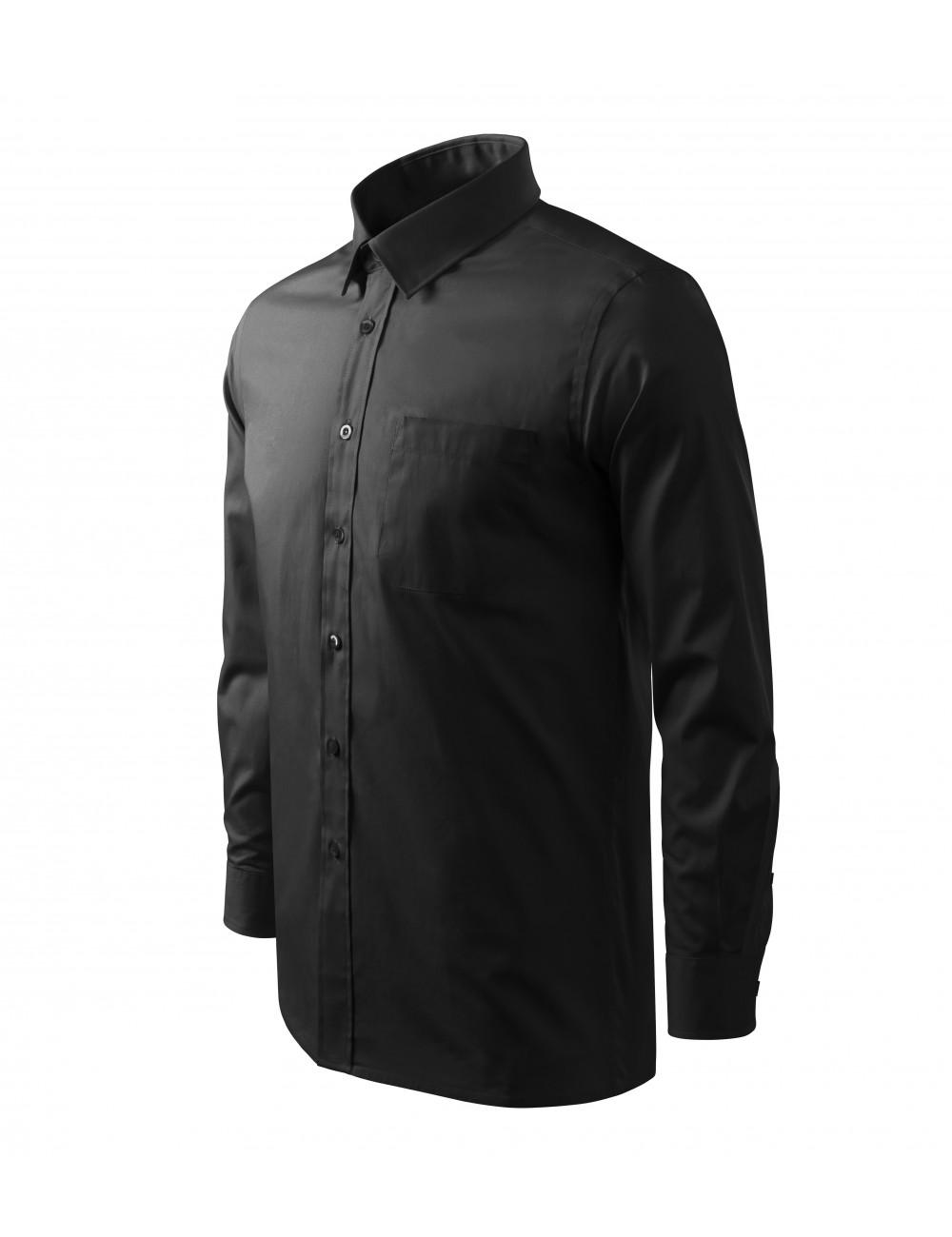 Adler MALFINI Koszula męska Style LS 209 czarny