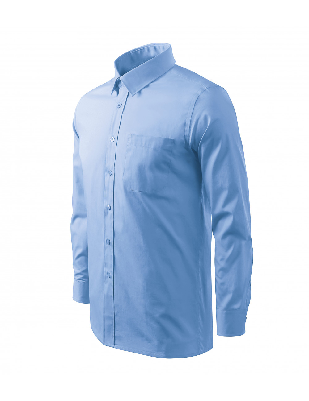 Adler MALFINI Koszula męska Style LS 209 błękitny