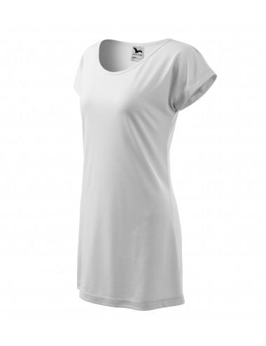 Adler MALFINI Koszulka/sukienka damska Love 123 biały