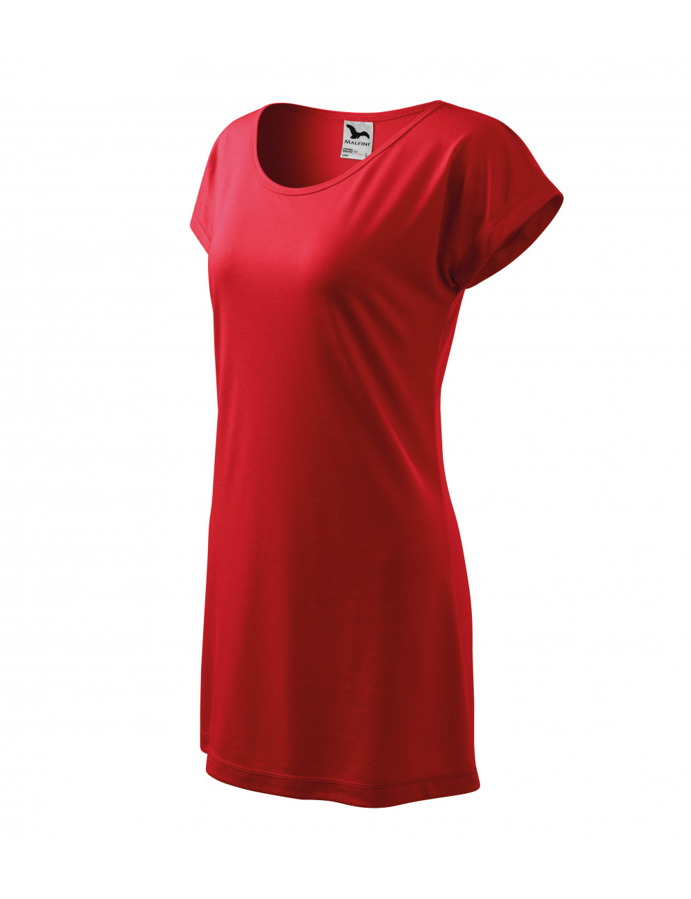 Adler MALFINI Koszulka/sukienka damska Love 123 czerwony